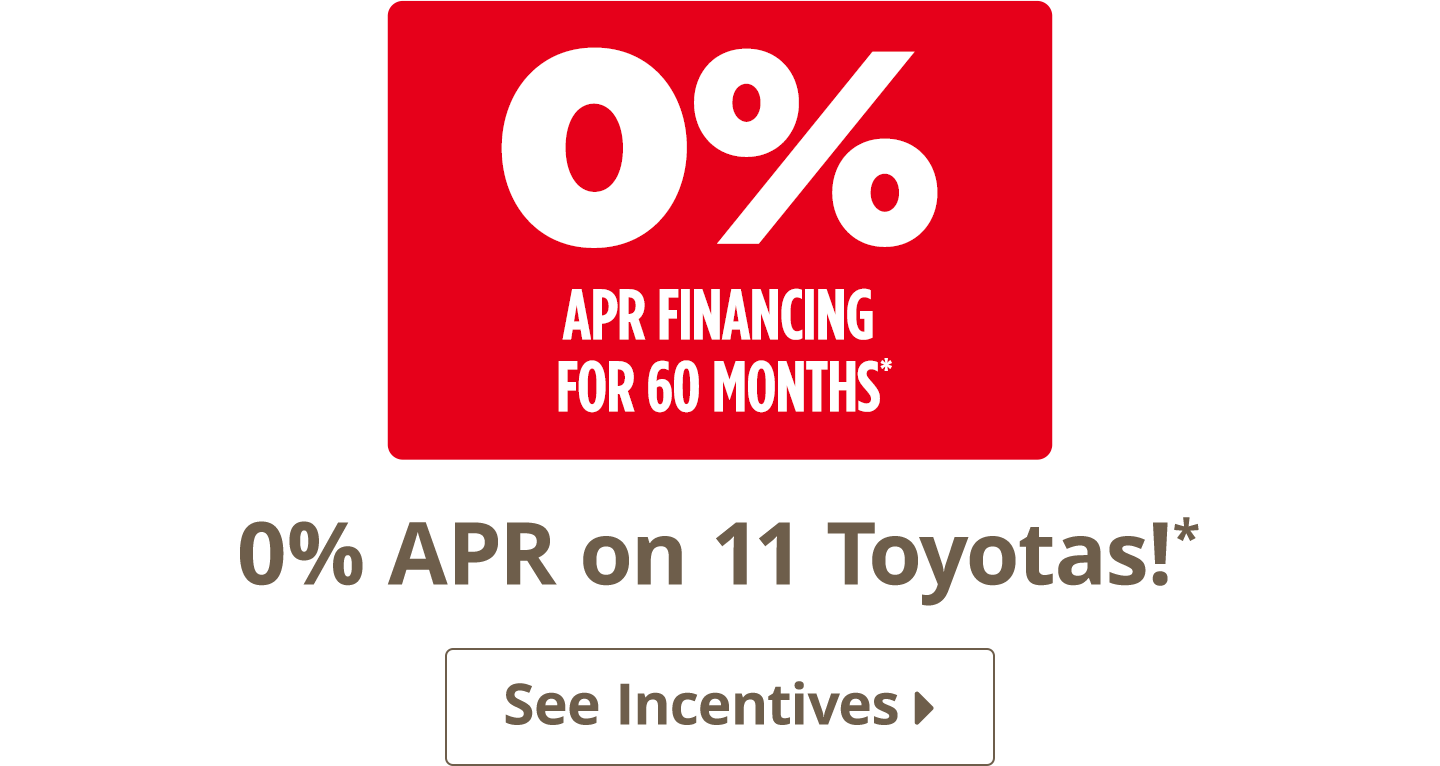 0% APR on 11 Toyotas